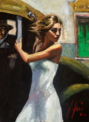 Calles De San Telmo (Lucy) by Fabian Perez - Original Painting on Stretched Canvas sized 12x16 inches. Available from Whitewall Galleries